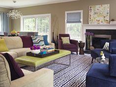 Tons Of Color Thatu0027s Fun But Still Somehow Relaxing In Modern Living Room  By Rachel Reider