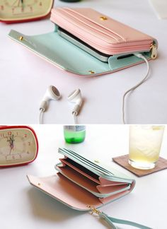 Multifunction Women Wallet Coin Case Purse For Iphone/Galaxy