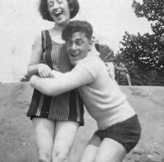 Young Moe Howard with a mystery lady. I don't think it's Helen.