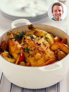How 'Bout Them Apples? A Sweet New Way to Roast aChicken