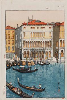 Hiroshi Yoshida (1876-1950). Canal in Venice (Vuenisu no unga) 1925 | Museum of Fine Arts, Boston