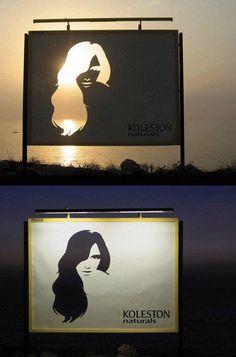 Affichage qui utilise parfaitement l'environnement pour mettre en avant le produit