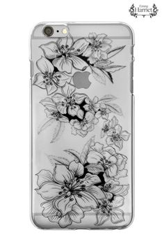 iPhone 6 clear printed case Black Twine by EmmaHarrietPrint