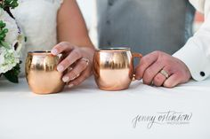 Moscow mule toasting glasses