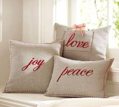 DIY Pillow Talk...these could be so nice to have...the Fruit of the Spirit scattered all throughout the house