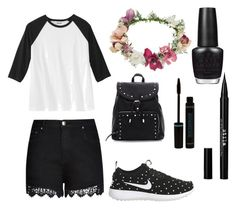 """""""Dark side"""" by luisa-shield on Polyvore featuring City Chic, NIKE, Topshop, Stila and OPI"""