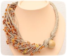 Linen necklace 'Warmth' by LeLinen on Etsy