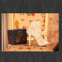 Lace Boots $86.00 Massive 60% off Sale store wide !!!