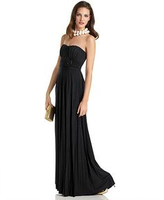Speechless Juniors Dress, Strapless Gown with Rose-Waist Detail - Womens Dresses - Macy's $59.99  @Hannah Fisher  @danielle young