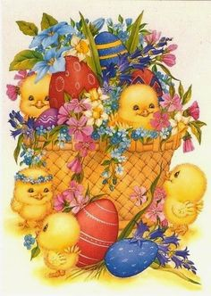 AMARNA ARTESANATO E IMAGENS: IMAGENS DE PÁSCOA PARA DECOUPAGE E ARTESANATO - cl... Easter Greeting Cards, Vintage Greeting Cards, Happy Easter Pictures Inspiration, Ostern Wallpaper, Chicken Art, Easter Art, Easter Printables, Egg Art, Easter Holidays
