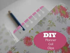 diy coil clips for a planner - this could get addictive.