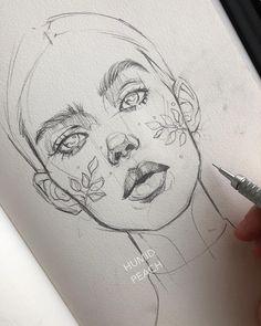 [orginial_title] – Art World Kunst Zeichnungen – Brilliant sketches Swipe 1 2 or Artist HUMID PEACH Want to be featured?… Kunst Zeichnungen – Brilliant sketches Swipe 1 2 or Artist HUMID PEACH Want to be featured? Pencil Art Drawings, Art Drawings Sketches, Cool Drawings, Face Drawings, Drawing People Faces, Face Pencil Drawing, Tumblr Sketches, Girl Face Drawing, Tattoo Sketches