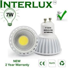NEW 650 Lumen Warm White GU10 LED Bulb. NOT DIMMABLE, 60 degree beam angle - £6.45 Amazon