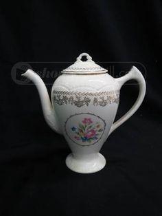 shopgoodwill.com: Vintage Porcelain Pink Rose Floral Teapot