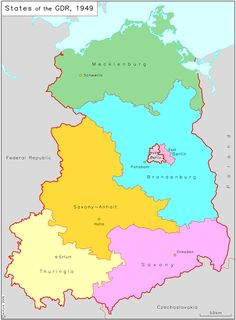 Germany after the second world war september 1 1945this map shows a second german state was formed on the territory of the soviet zone of occupation in 1949 the german democratic republic its capital was east berlin gumiabroncs Image collections