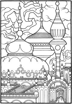 City Of Dreams From The Coloring Book EQUINOX By Stephen Barnwell