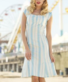 Blue & White Stripe Pier Patrol Dress   Daily deals for moms, babies and kids