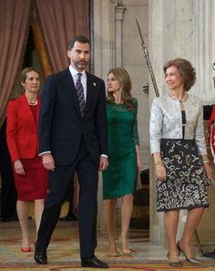 Spain Royal Family attend the official dinner held to members of the IOC Evaluation Commission at the Royal Palace of Madrid,Spain