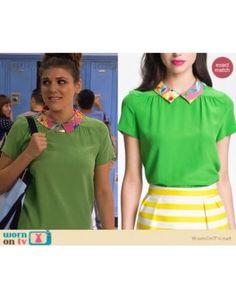$248 Kate Spade 'Tessa' Silk St PatrIck Blouse Green Pink Floral Size 0