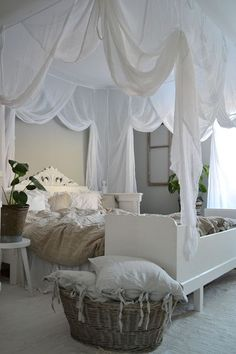 Creating a romantic canopy bed does not require a professional designer. A canopy bed adds elegance, sophistication and most of all; it gives a romantic feel to your bedroom. Getting a romantic room is as easy as ABC. Create one… Continue Reading → Romantic Bedroom Decor, Romantic Room, Stylish Bedroom, Shabby Chic Bedrooms, Modern Bedroom, Bedroom Ideas, Romantic Ideas, Canopy Bedroom, Large Bedroom