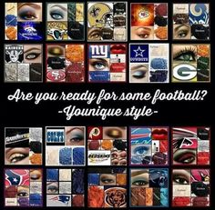 Who's ready for some football?! How about showing your team spirit with some AWESOME Younique Moodstruck Minderal Pigments!!! Visit the link to go to the open party going on now! https://www.youniqueproducts.com/StaceyKClark