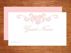 Printable wedding place card DIY template by WeddingTemplatesHub