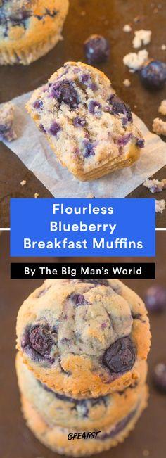 1. Flourless Blueberry Breakfast Muffins #greatist http://greatist.com/eat/gluten-free-muffin-recipes