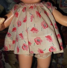 Effanbee Original tagged Composition Patsy Doll dress and matching undergarment