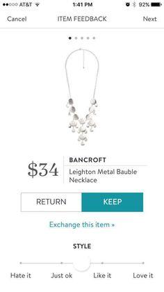 Stitch Fix Bancroft Leighton Metal Bauble Necklace