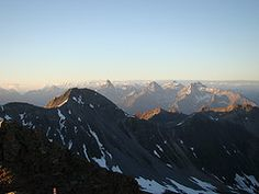 On the Rothorn mountain top veeeery early in the morning. (Lenzerheide, Switzerland)