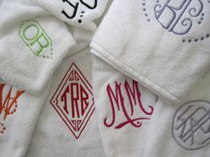 Julia B. Custom Monogrammed Towels
