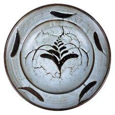 Lot 20 - David Leach (British, 1911-2005) Charger, circa 1986 Stoneware, thick crawling white dolomite glaze