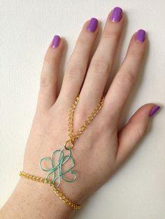 Mint Swirl Hand Piece by NativeLace on Etsy