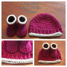 Simple and cute this baby hat works up quickly in double crochet and uses front post double crochet and single crochet to create some nice texture. Paired with my free bootie pattern, this set make…