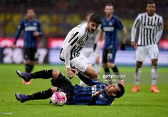 Gary Medel en el Inter Milan - Juventus de copa