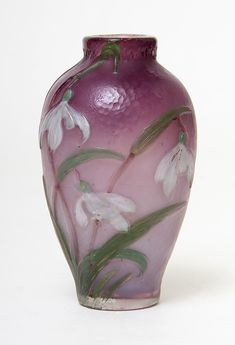 FRENCH GLASS, Burgun & Schverer, Internally decorated vase