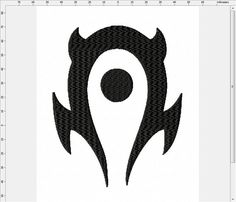 World of Warcraft PvP Horde Symbol Machine Embroidery Design by LightsOutCreations