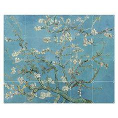 'Blossoming Almond Tree, famous post impressionism fine art oil painting by Vincent van Gogh. Vincent Van Gogh, Van Gogh Museum, Power Trip, Art Floral, Van Gogh Tapete, Van Gogh Almond Blossom, Blue Wall Decor, Diy Vintage, Vintage Floral