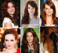 red hair color I like the last one!!!