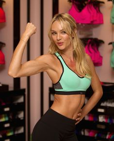 Candice Swanepoel - Candice Swanepoel Is All About the VS Sports Bra
