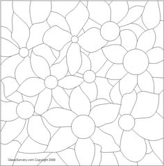 B Stained Glass Pattern: Clematis could be used for quilling pattern