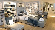 the white company symons street store - one of everything please! Visual Merchandising, Ivory Bedding, Home Decor Online Shopping, Online Bedding Stores, Buy Bed, The White Company, Shop Interiors, Bedding Shop, Contemporary Bedroom