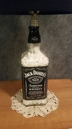 Check out this item in my Etsy shop https://www.etsy.com/listing/273307646/jack-daniels-lamp-with-black-lampshade