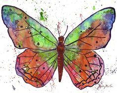 Butterfly. Watercolor art