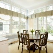 For the Kitchen: Box Pleats, Linen Drapes and Roman Shades