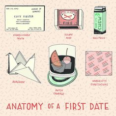 Anatomy of a First Date by Laura Callaghan. Love this girl's work: http://lauralaurapicturedrawer.blogspot.co.uk/