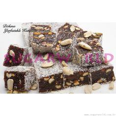 Kakaolu Yer Fıstıklı Lokum Desserts, Food, Tailgate Desserts, Deserts, Essen, Postres, Meals, Dessert, Yemek