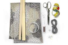 Kostenlose Nähanleitung für ein dekoratives Raffrollo von stoffe.de - Materialliste