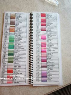 Copic Swatch Book and Work Book ~ Marie Loves to Stamp....AWESOME!!!!!