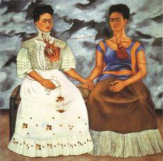 Frida Kahlo – 1907-1954 – Meksika  The Two Fridas – İki Frida  15 yaşında geçirdiği ağır trafik kazasında ciddi şekilde sakat kalan Frida Kahlo, geri kalan hayatını hastaneler ve ameliyatlar arasında geçirdi. Frida'nın hemen her tablosu, hayatı boyunca çektiği acılardan feyz aldı. Kadınların toplum içinde karşılaştıkları zorlukları ve erkek egemenliğinin altında kalan kadın imajını tablolarına taşıdı. Genellikle yattığı yerden bir ayna karşısında resim yapan Frida Kahlo'nun en önemli tablosu…